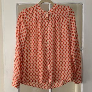Polka Dot Silk Blouse